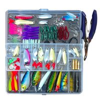 132 Pcs Fishing Lures Set Mixed Minnow Hooks Fish Lure Kit In Box Artificial Bait Fishing