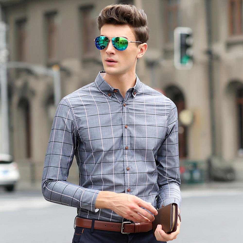 3376dbbfaee8a Toptrek Ropa Casual Hombres Plaid Camisa de Vestir de Moda 2016 Chemise  Homme Camisa Masculina Sociales Homme Vetement Marca 5XL en de en  AliExpress.com ...
