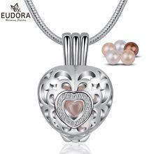 Ожерелье с подвеской eudora в форме сердца натуральный пресноводный