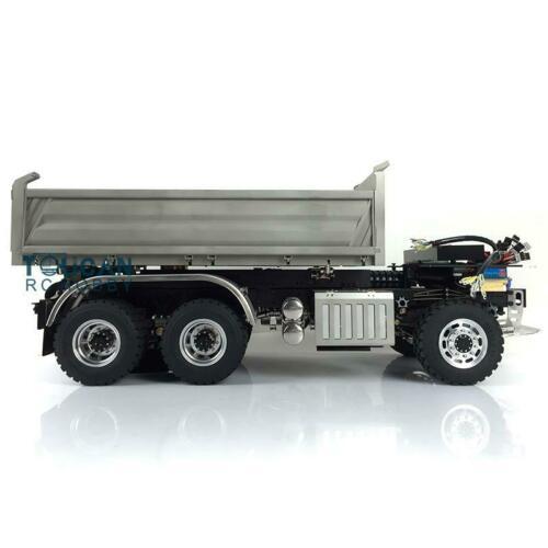 LESU 1/14 Hydraulic RC Sca 6*6 3-way Dumper Truck DIY Tmy 3Axles Model ESC THZH0210