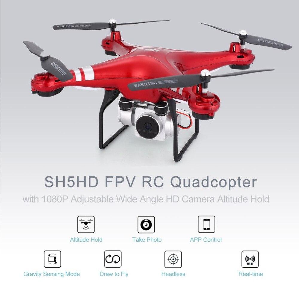 RC Дрон с 1080 P камерой Регулируемый Широкоугольный Wifi HD Квадрокоптер г 2,4 г FPV живое видео высота Удержание Безголовый режим Квадрокоптер