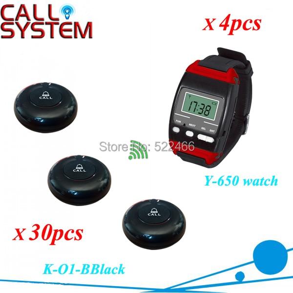 Y-650 O1-BBlack 4 30 Restaurant table call bell system.jpg
