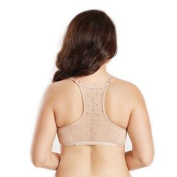 Push Up Plus Size Bra Crop Tops Bras For Women Front Closure Female Underwear Lingerie Back Sexy Lace Brassiere pj6010 Бюстгальтер