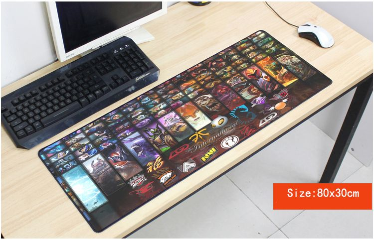 locrkand dota 2 mouse pad cool pad to mouse notbook computer mousepad Popular gaming padmouse gamer to laptop 80x30cm mouse mats
