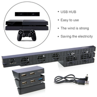 New Game Cooling Fan And 5 Ports HUB For PlayStation 4 Pro For PS4 Pro Gaming