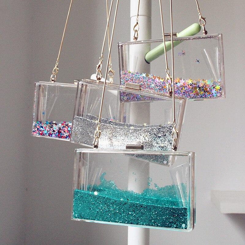 2017 new transparent acrylic purse acrylic clutch bag