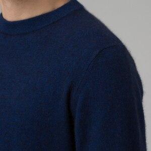 Image 4 - ผู้ชายฤดูหนาวจัมเปอร์ 100% แคชเมียร์และผ้าขนสัตว์ถักเสื้อกันหนาวคอยาวแขนยาว Pullovers ชาย 2016 เสื้อใหม่ขนาดใหญ่เสื้อผ้า