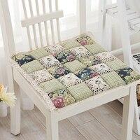 Milaiya Floral Seat Cushion Cotton Thick Square Dining Chair Cushion Fabric Breathable Anti Slip Portable Car
