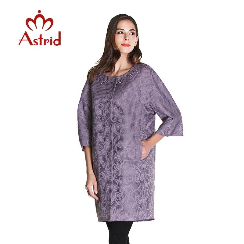 2018 Women   trench   coat hot sale New Spring Women Seven sleeves Thin Windbreaker Outwear Coat Casual long Large Size coat AS-2185