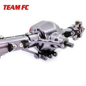Image 5 - 1 ensemble 1/10 Rc voiture complète alliage CNC essieu avant et arrière en métal avec bras CNC usiné pour 1:10 Rc chenille axiale SCX10 RC4WD S242