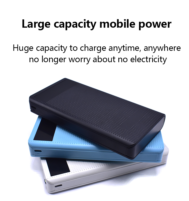 20000MAh PowerBank with LED Screen Display Dual USB Charging Power Bank External Battery ...