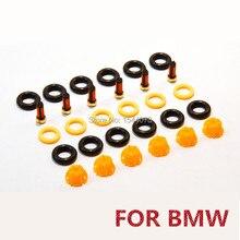 6 компл./30 шт. ремонтные наборы деталей топливной форсунки инжекторы Комплект прокладок набор фильтров для BMW E60 E39 520i 523i 525i 528i