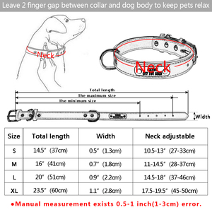 Image 5 - 大丈夫パーソナライズ犬の首輪 Pu レザーペット ID 首輪カスタマイズ小中大犬猫 4 サイズ