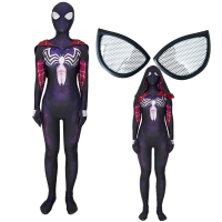 Venom Gwen Stacy Spider Man Into The Spider Verse Spiderman Cosplay Costume Zentai Superhero Bodysuit Suit