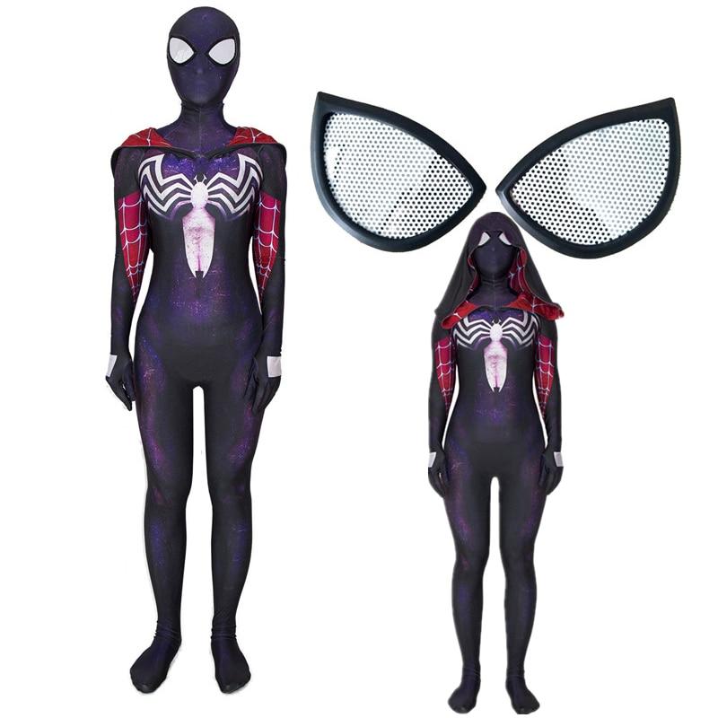 Venom Gwen Stacy Spider Man Into the Spider-Verse Spiderman Cosplay Costume Zentai Superhero Bodysuit Suit Jumpsuits