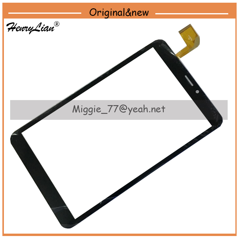 """Henrylian Black And White 8"""" Inch For Irbis Tz82 Digitizer Glass Sensor Tablet Touch Screen Touch Panel Replacement"""