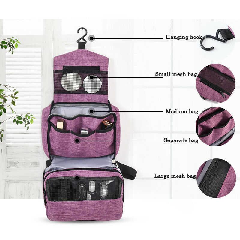 متعددة الوظائف Suspendable النساء منظم حقيبة مستحضرات التجميل للماء حقيبة ماكياج محمولة السفر ضرورة الجمال حالة غسل الحقيبة