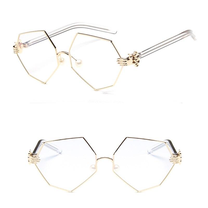 Dokly Módní trend Žluté tónované čočky Kovový rám módní Sluneční brýle rámy žluté čočky