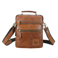 ZZNICK Genuine Leather Men Bag Vintage Messenger Bags Cow Leather Solid Bag Shoulder Bag Fashion 8805