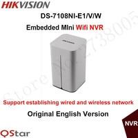 Hikvision Original English Embedded 8ch Wireless NVR DS 7108NI E1 V W 8ch 1080P Mini WiFi
