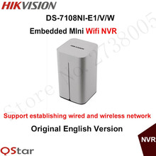 Hikvision Embedded 8ch Wireless NVR DS-7108NI-E1/V/W 8ch 1080P Mini WiFi Network Video Recorder Onvif Support Original English