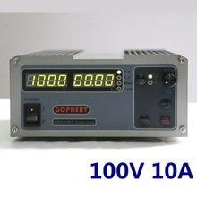安定した Gophert DC スイッチング電源 CPS 1001 出力 100v10a 調整可能な dc 電源ロック 4 桁表示