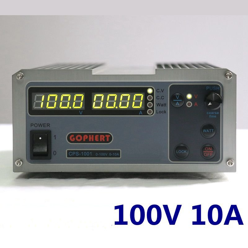 Gophert DC switching power supply CPS-1001 output 100v10a adjustable DC power lock four-digit display