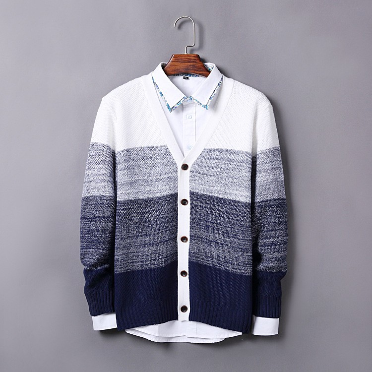 High Quality Mens Sweater New 2015 Autumn Winter Patchwork Cashmere Wool Cardigan Men Sweater Brand Casual V-Neck Mens Clothing (1)