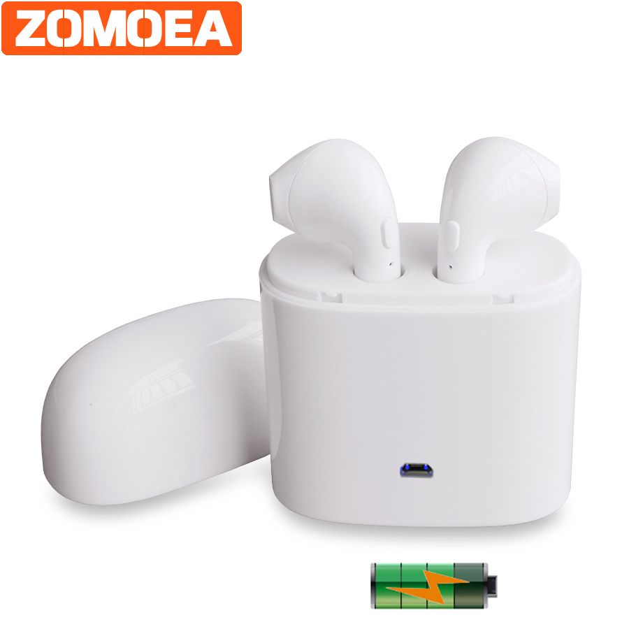 ZOMOEA Wireless Bluetooth Double Earphones Earpieces Stereo Music Headset For Apple iPhone Headphones earbuds earphone Headphone