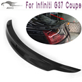 G37 Carbon Fiber Auto car Rear Trunk wing lip spoiler For Infiniti (Fits G37 coupe 2D 09-13 BASE COUPE , JOURNEY COUPE )