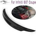 G37 Fibra De Carbono Auto car Rear Trunk asa lip spoiler Para Infiniti (Fits G37 coupe 2D 09-13 COUPE BASE de, JORNADA COUPE)