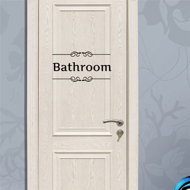 Toilet Bathroom Door Stickers 28*15cm 10