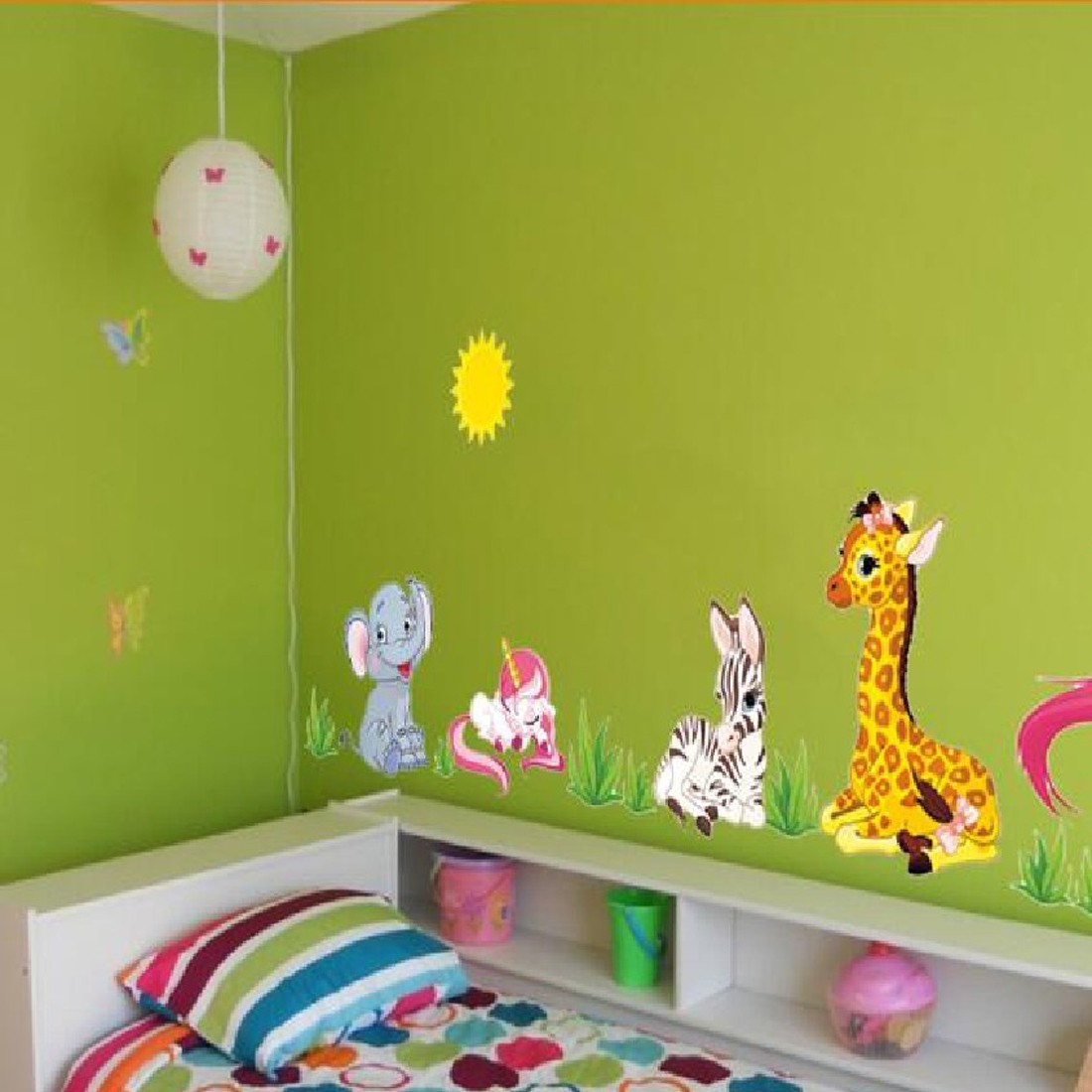 popular kids horse wall mural buy cheap kids horse wall mural lots hotsale removable diy mural wallpaper elephant horse giraffe wall stickers kids for home decoration china