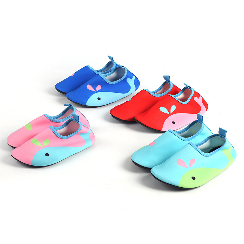 Kids Water Shoes Quick Drying Swim Casual Footwear Barefoot LightWeight Aqua Socks For Beach Pool Cartoon Children
