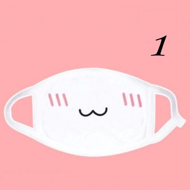 New Cute Anti Dust mask Kpop Cotton Mouth Mask Kawaii Anime Cartoon Mouth Muffle Face Mask Emotiction Masque Kpop masks 1