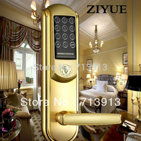 Electronic Smart home Intelligent Keypad Panel Door  Lock  unlock by password or card key or manual key    ET831pw digital smart door lock electronic touchscreen numeric keypad deadbolt door lock unlock with m1 card code or mechanical key