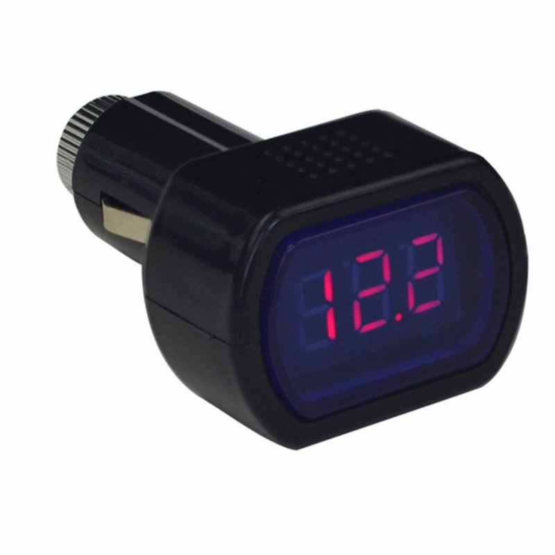 Free Shipping New Mini Car Voltmeter Digital Car Voltage Detector Storage Battery Voltage Meter Monitor Car Accessories