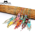 GAGAFEEL Statement Necklace Handmade Ethnic Women Bohemia Jewelry Choker Pendant Tassel Maxi Statement Chain Gifts For friends