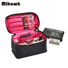 Mihawk Large Vanity Cosmetic Bag Case Travel Organizer Functional Makeup Pouch B
