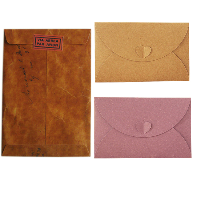 high end texture matte paper envelope retro kraft envelopes for