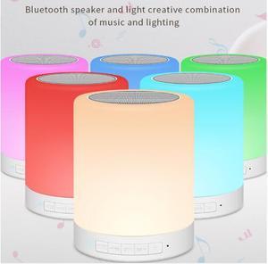 Image 5 - Kuliai 夜の光と bluetooth スピーカー、ポータブルワイヤレス bluetooth スピーカー IPTV タッチコントロールカラー led ナイトライト