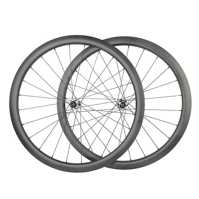 U shape road Disc carbon wheels 38mm clincher Tubeless straight pull Cyclocross CX bike wheelset QR