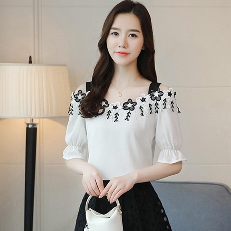 907649b48126c Women Slash Neck Chiffon Blouse Fashion Women Off Shoulder Shirt Blouses -  Online Shopping For Electronics