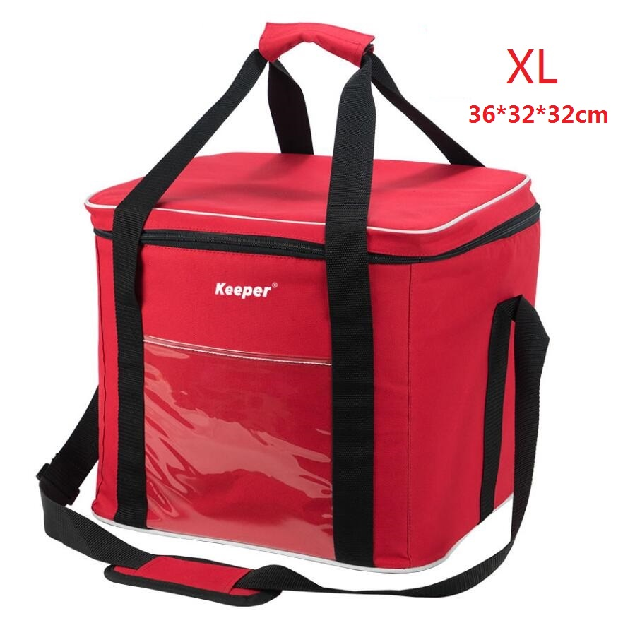 Super Large Cooler Bag With Frame, Red Insulated Picnic Bag Encryption 600D Oxford Cloth+PE Foam+PEAV; Bolsa Termica Grande 20l extra large camouflage cooler bags thermal insulated picnic bag box travel picnic food storage accessories supplies products