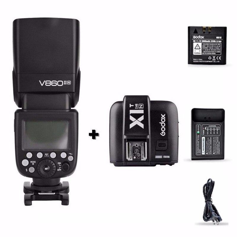 Godox V860II N I TTL HSS 2 4G font b Wireless b font Flash Speedlite X1T