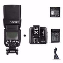 Godox V860II-N I-TTL HSS 2.4G Wireless Flash Speedlite + X1T-N Trigger For Nikon with battery and charger