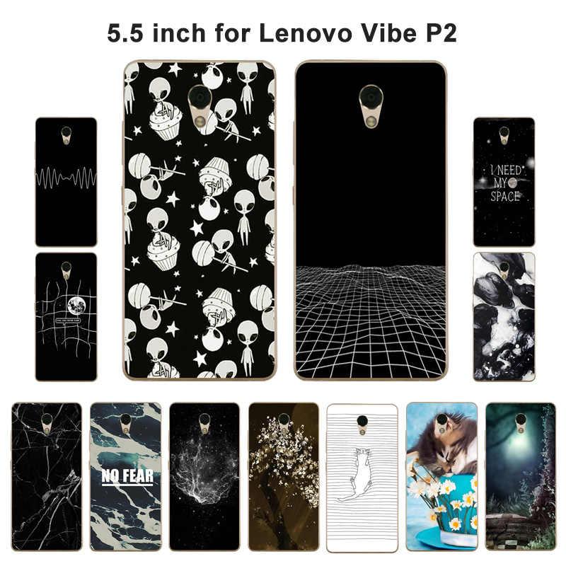 Для Lenovo Vibe P2 P2a42 чехол для телефона ТПУ Мягкий противоударный аэрокосмической роспись для Lenovo Vibe P2/P2 P2c72 P2a42 силиконовый чехол для Lenovo P2