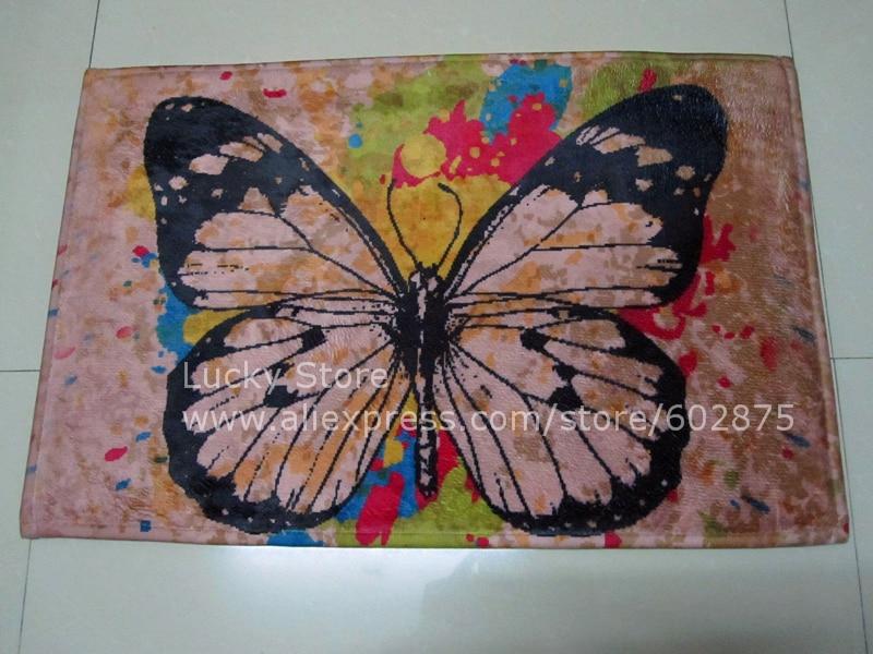 Retro butterfly simple style mat Non-slip carpet Korean doormat kitchen D15112002#