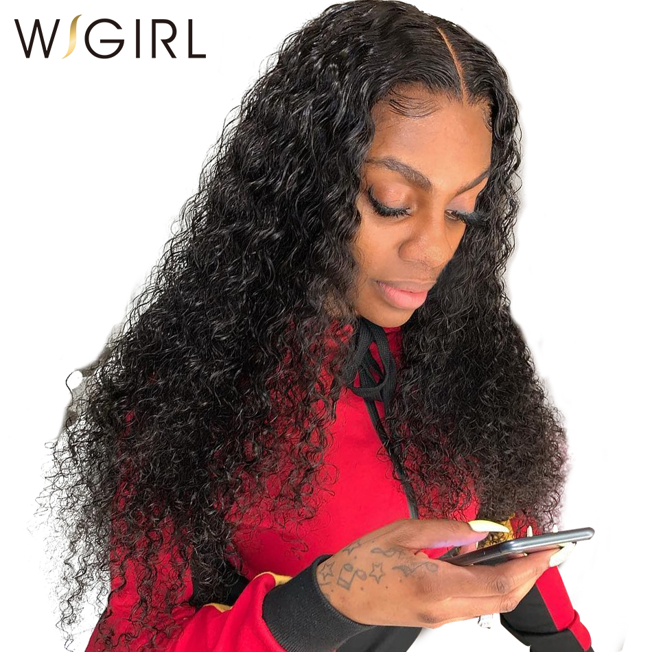 Wigirl Hair 200 Density 360 Lace Wig Pre Plucked With Baby Hair Curly Lace Front Human