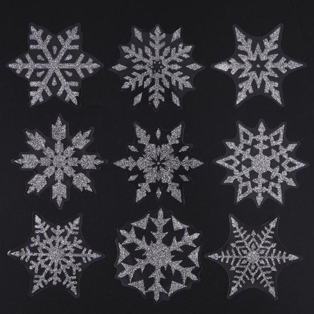6 Sheet Christmas Snowflake Wall Sticker Decal Home Window Sticker Shop  Glass Wall Decals For Festival